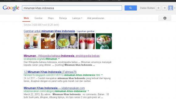 Artikel Minuman Khas Indonesia