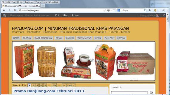 Penjual Minuman Tradisional Bajigur Yang di Pasarkan Secara Online