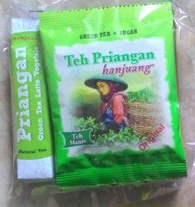 Teh Priangan dan Hanjuang Green Tea Latte
