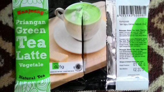 Hanjuang Priangan Green Tea Latte Vegetale kemasan Renteng