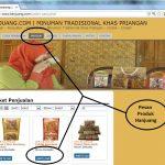Penjualan online minuman tradisional hanjuang Bandung